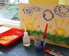 Fingermalfarbe, Kleber, Bild