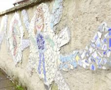 wand mit Mosaik